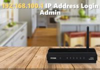 192.168.100.1 IP Address Login Admin